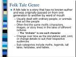 folk tale genre