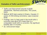 evaluation of traffic law enforcement