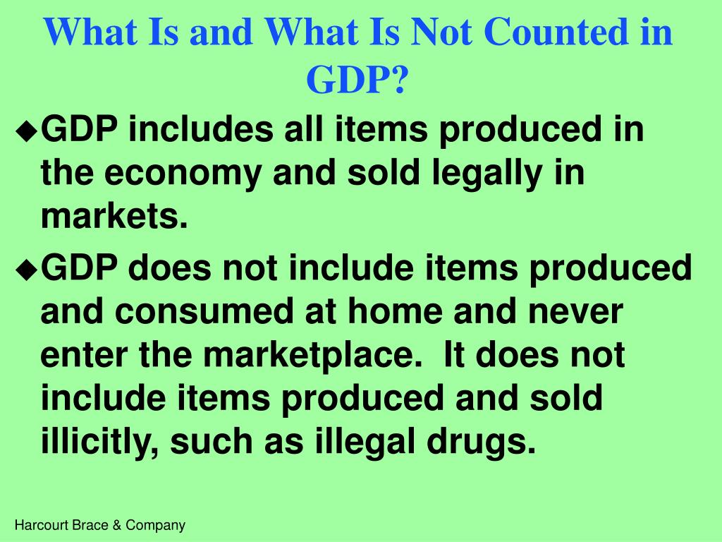 What Is and What Is Not Counted in GDP?