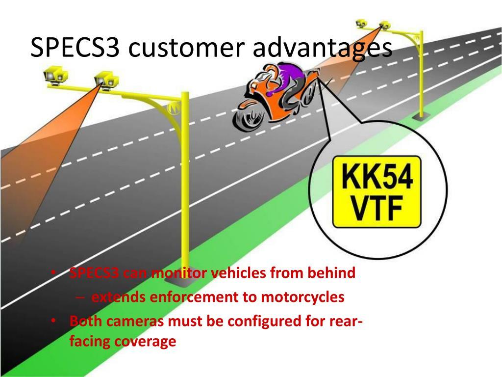 SPECS3 customer advantages