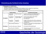 entwicklung des durkheim schen ansatzes10