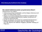 entwicklung des durkheim schen ansatzes11