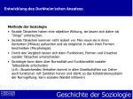 entwicklung des durkheim schen ansatzes6