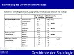 entwicklung des durkheim schen ansatzes8