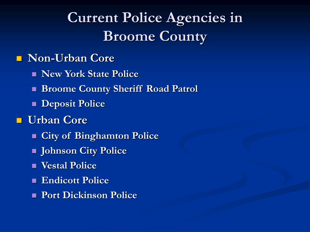 Current Police Agencies in