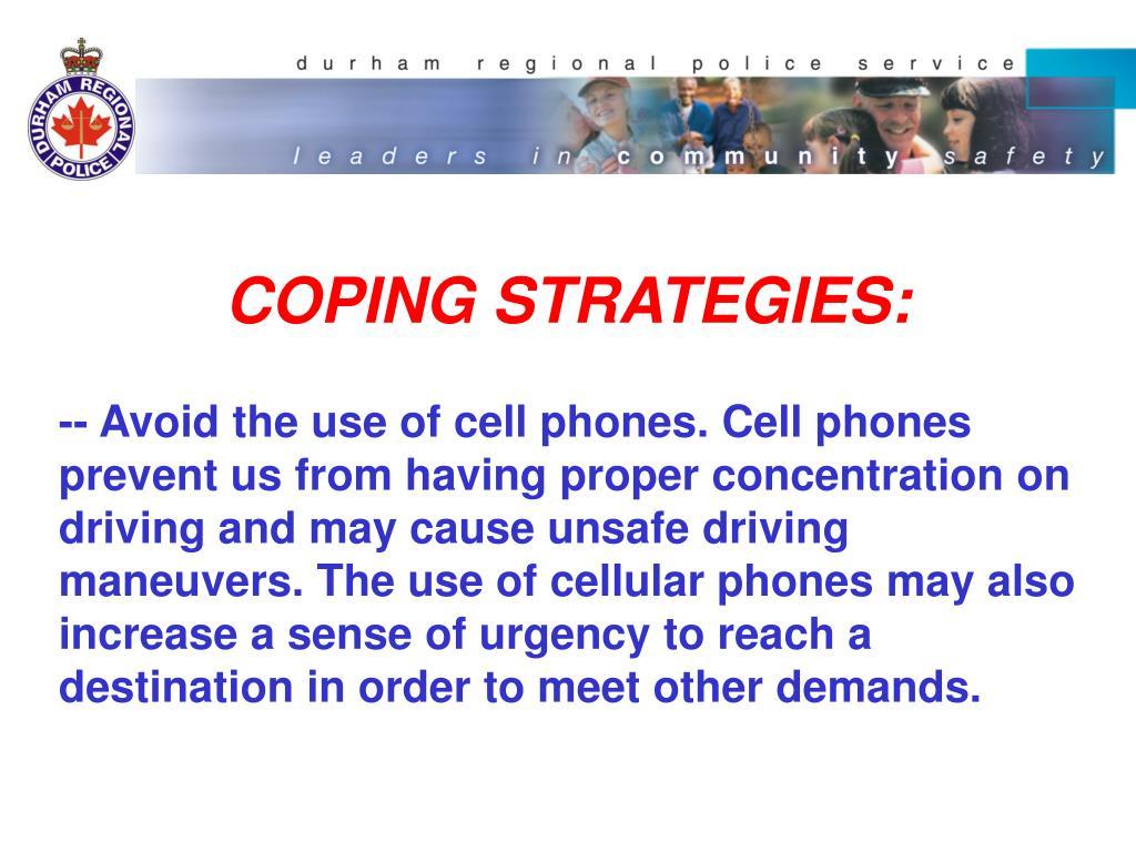 COPING STRATEGIES: