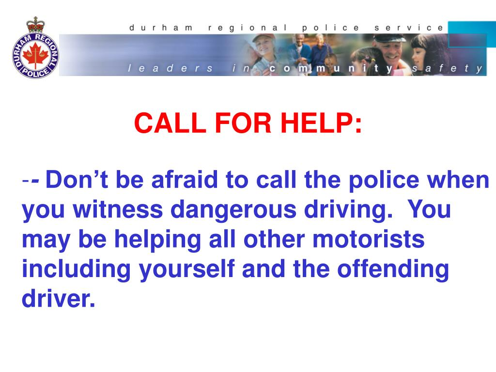 CALL FOR HELP: