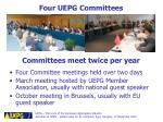 four uepg committees