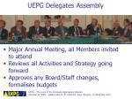 uepg delegates assembly