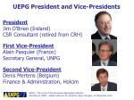 uepg president and vice presidents