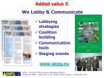 we lobby communicate