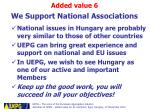 we support national associations