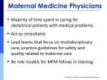 maternal medicine physicians