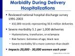 morbidity during delivery hospitalizations