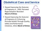 obstetrical care and service1