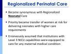 regionalized perinatal care