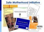 safe motherhood initiative