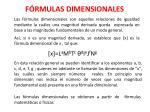 f rmulas dimensionales