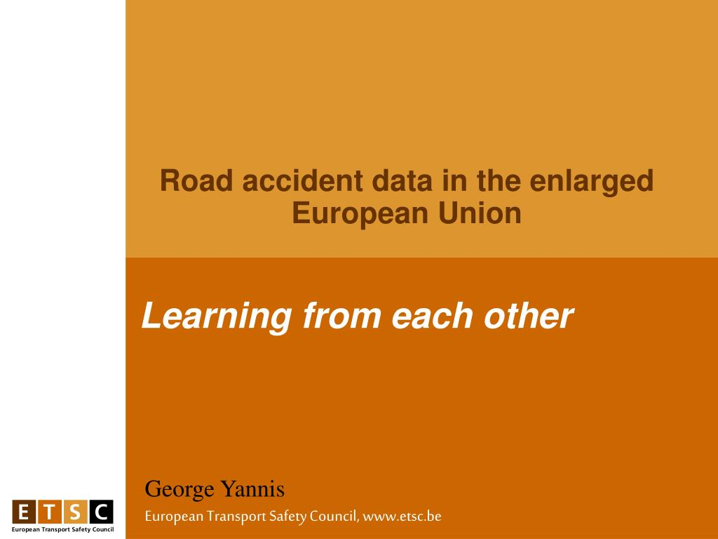 Road accident data in the enlarged European Union