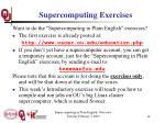 supercomputing exercises