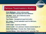 famous toastmasters alumni