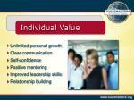 individual value