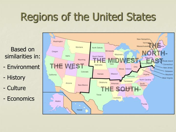 regions of the united states n.