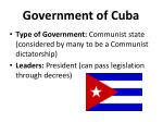 government of cuba