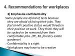 4 recommendations for workplaces4