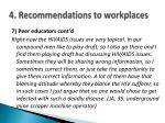 4 recommendations to workplaces
