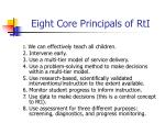 eight core principals of rti