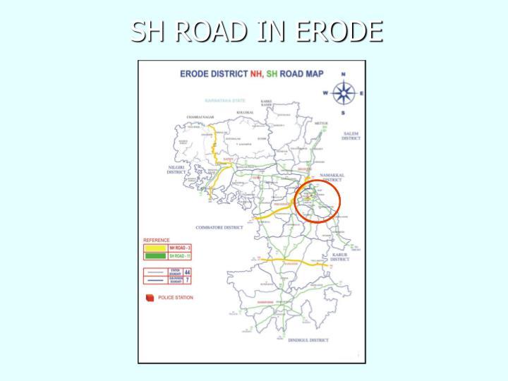 Sh road in erode