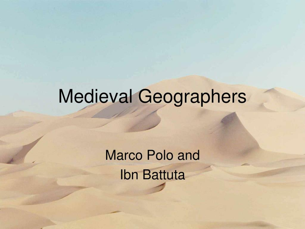 medieval geographers