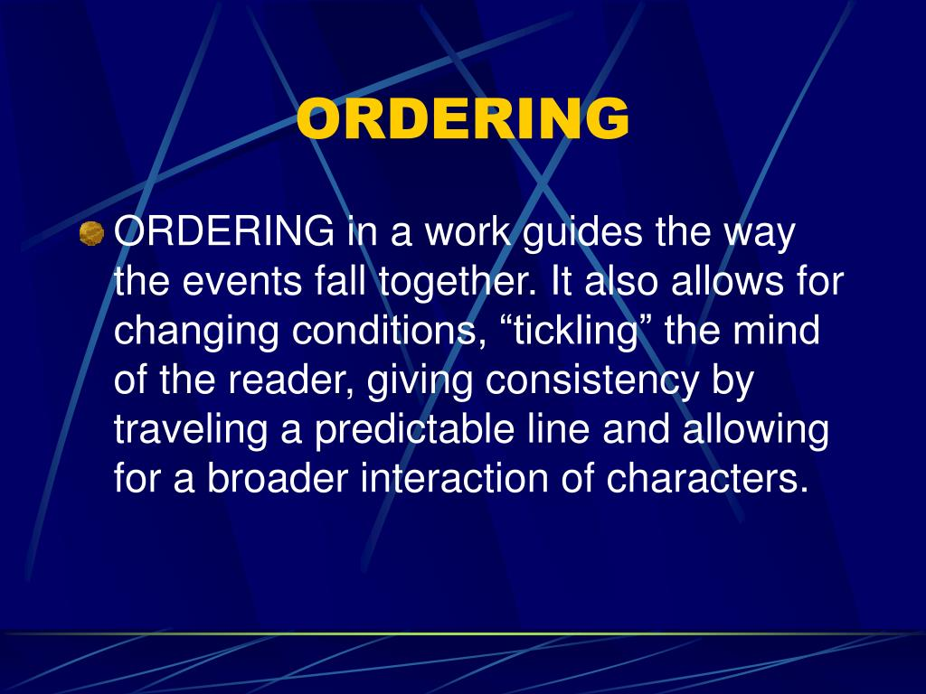 ordering l.