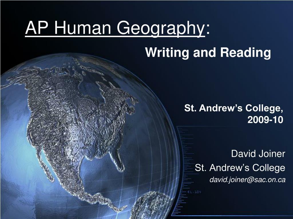 ap human geography l.