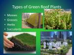 types of green roof plants