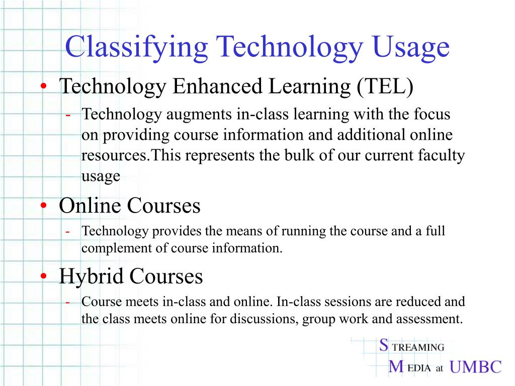 Classifying Technology Usage
