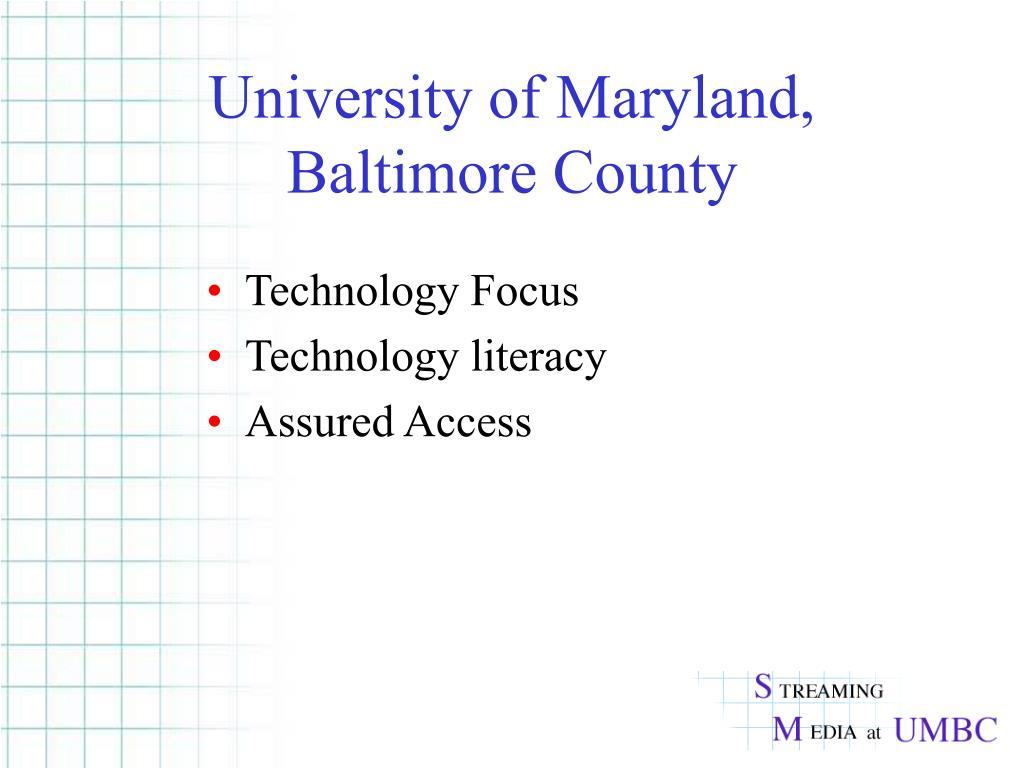 University of Maryland, Baltimore County