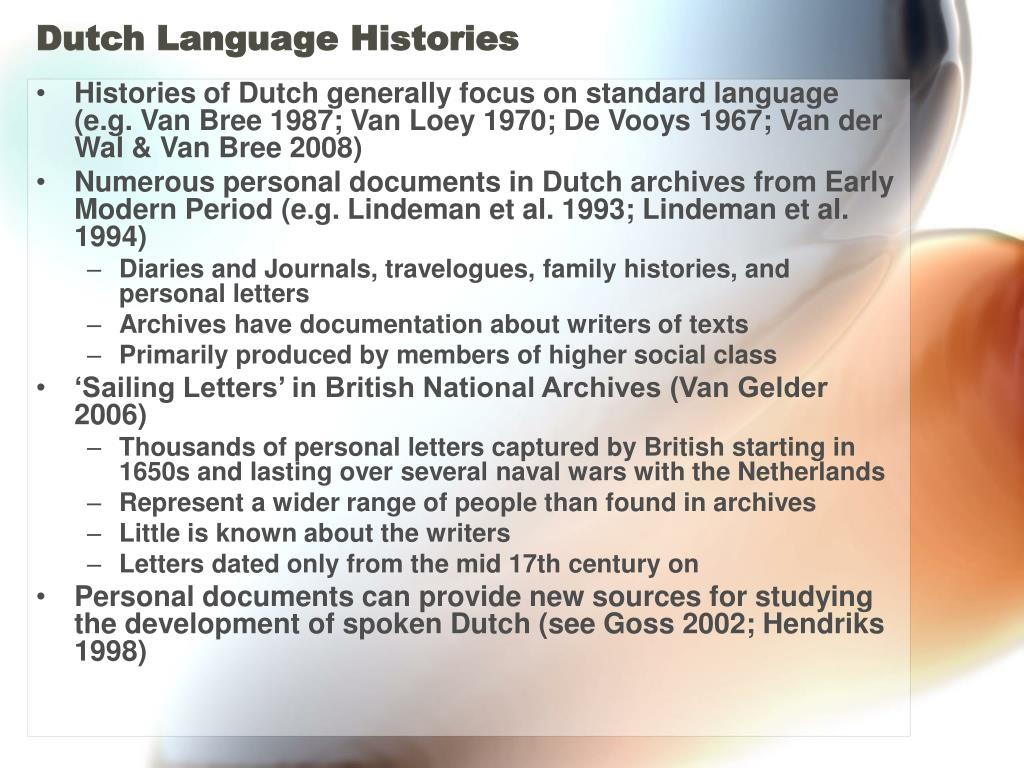 Dutch Language Histories