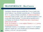 transformace box coxova1