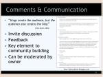 comments communication