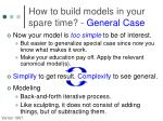 how to build models in your spare time general case