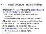 paper structure rule of thumbs7