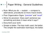 paper writing general guidelines