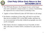 chief petty officer early return to sea navadmin 230 10