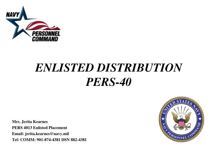 enlisted distribution pers 40 n.