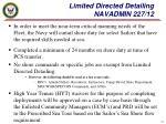 limited directed detailing navadmin 227 12