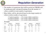 requisition generation