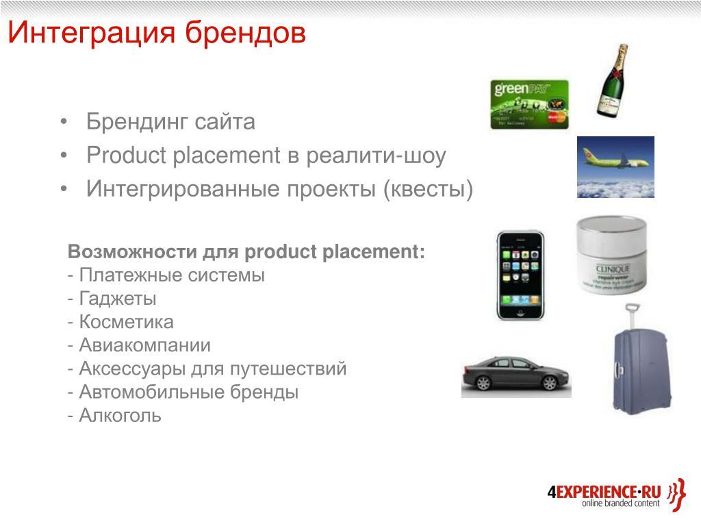 Интеграция брендов