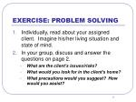 exercise problem solving